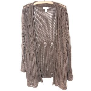 Dressbarn Loose Knit Duster Cardigan Women's XL